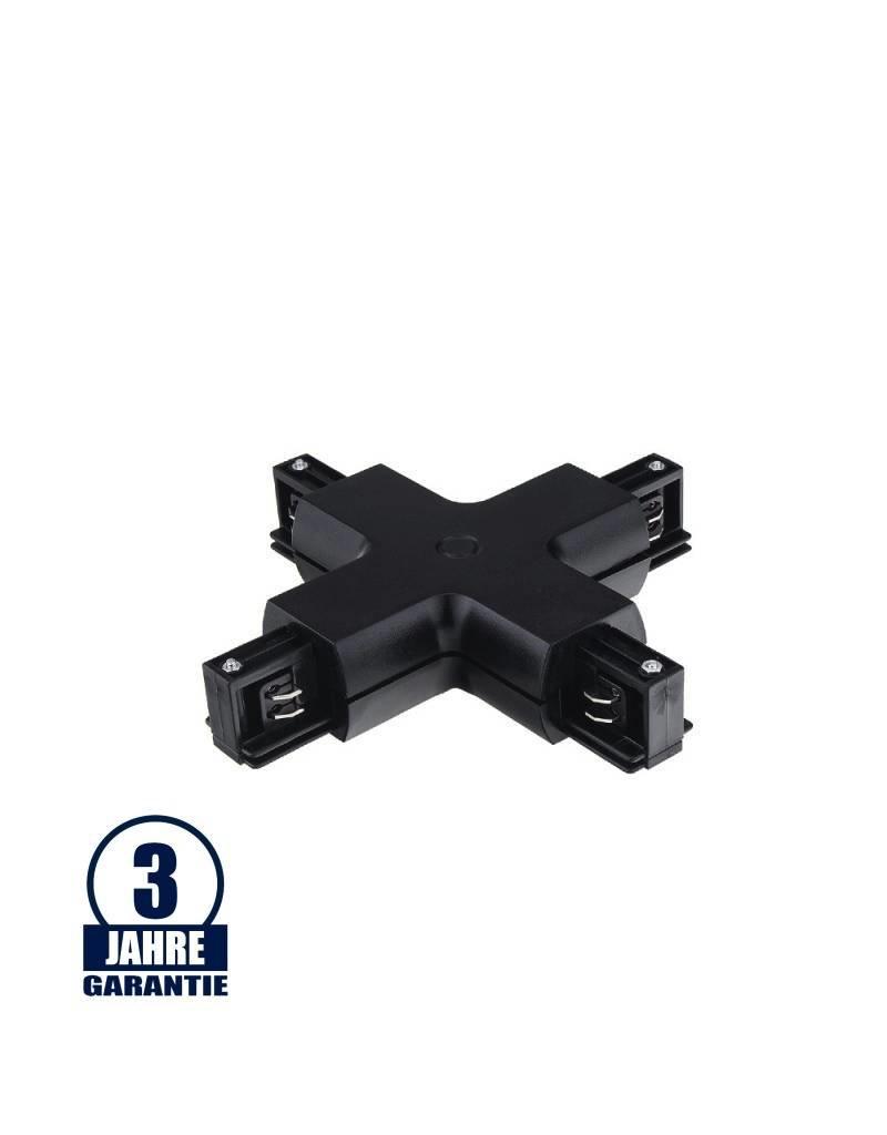LEDFactory Kreuz-Verbinder für 3Ph. Stromschiene Professional Schwarz