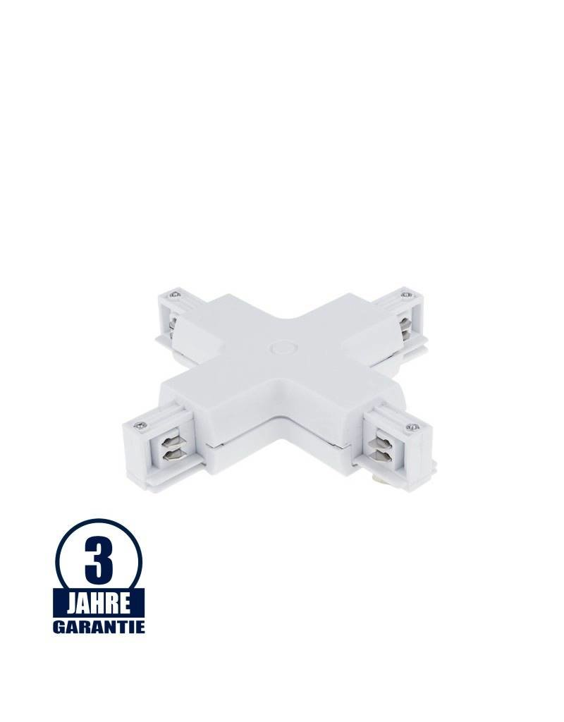 Kreuz-Verbinder für 3Ph. Stromschiene Professional Weiß