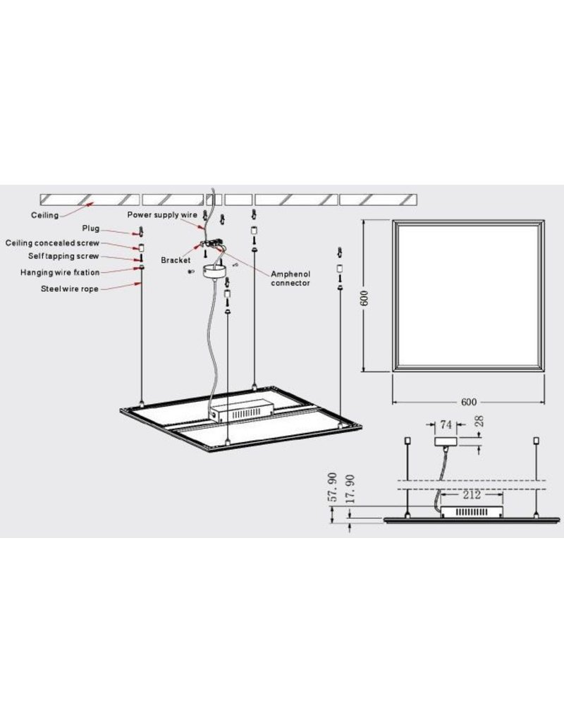 LEDFactory Montageelemente LED Panele