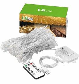 USB Lichterkette LED Lichtervorhang 300 LEDs 8 Modi 3m * 3m IP44
