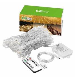 LEDFactory USB Lichterkette LED Lichtervorhang 300 LEDs 8 Modi 3m * 3m IP44