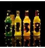 LEDFactory 8er Set, 120cm Micro LED Lichterkette Kupferdraht Warmweiß, 20 LEDs, Batteriebetrieb