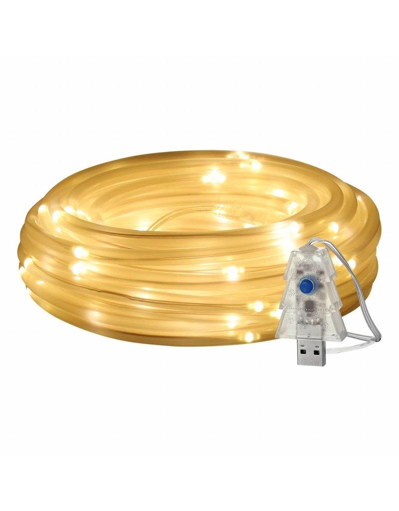 USB Lichtschlauch mit 100 LEDs, 10M LED Lichterkette mit Fernbedienung, IP65 Wasserfest, Zeitschaltuhr Merkfunktion