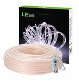 LEDFactory USB Lichtschlauch mit 100 LEDs, 10M LED Lichterkette mit Fernbedienung, IP65 Wasserfest, Zeitschaltuhr Merkfunktion