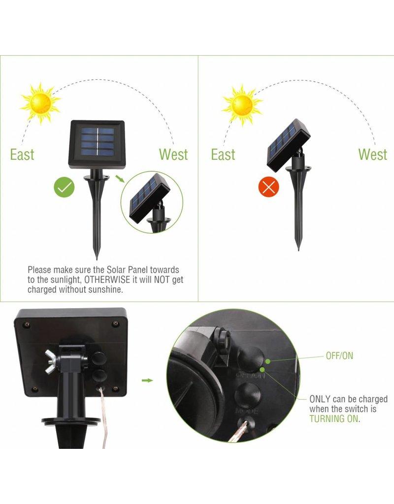Solarlichterkette, 10 Meter, Wasserdicht, 1,2V, Portable, Weihnachtsbeleuchtung, mit dem Lichtsensor, Warmweiß