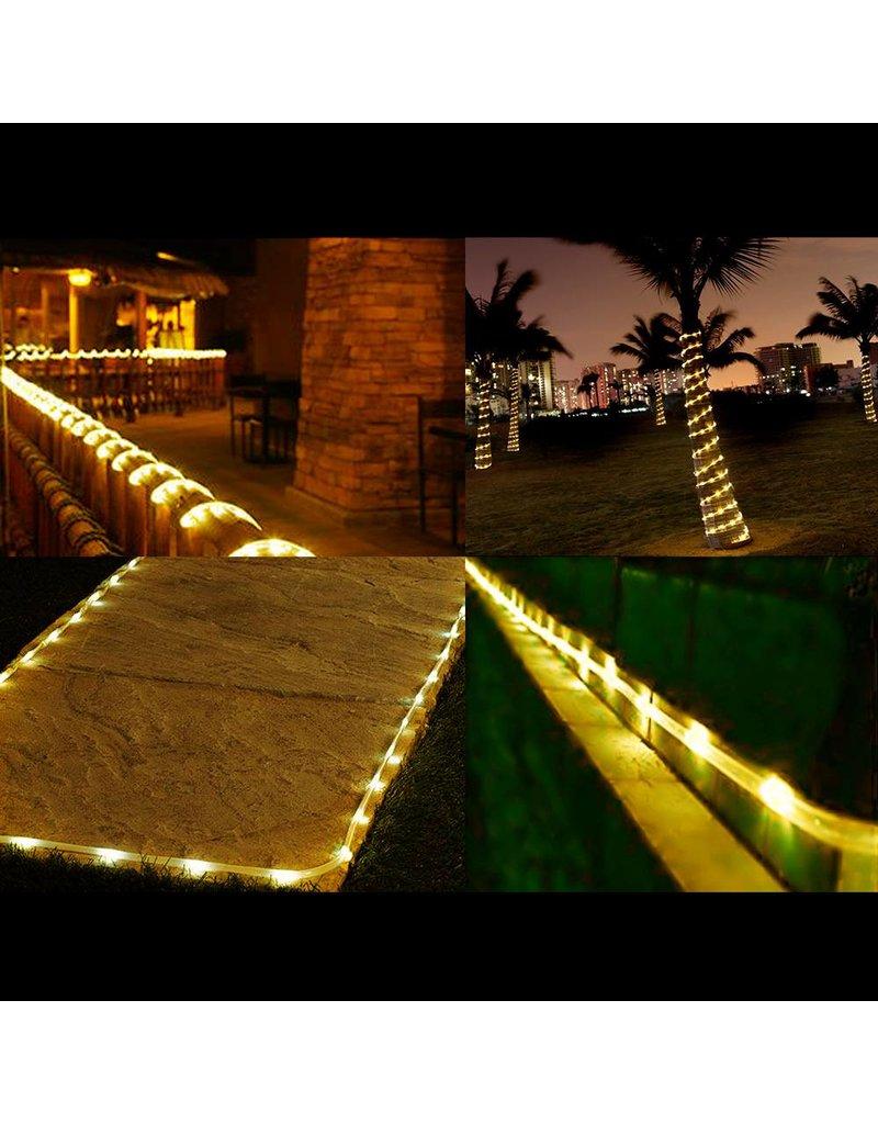 LEDFactory Solarlichterkette, 10 Meter, Wasserdicht, 1,2V, Portable, Weihnachtsbeleuchtung, mit dem Lichtsensor, Warmweiß