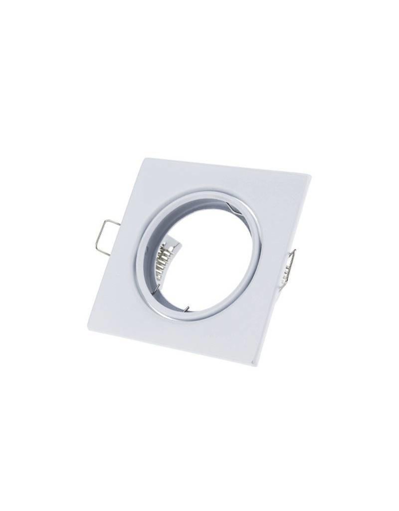 LEDFactory Einbaurahmen für LED MR16/GU10 Quadratisch Schwenkbar Weiß 2er Packung