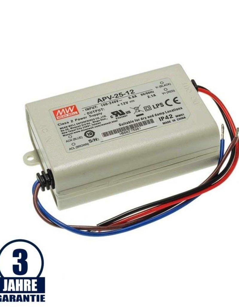 MEAN WELL 12V DC Kunststoff Netzteil IP42  16W bis 36W