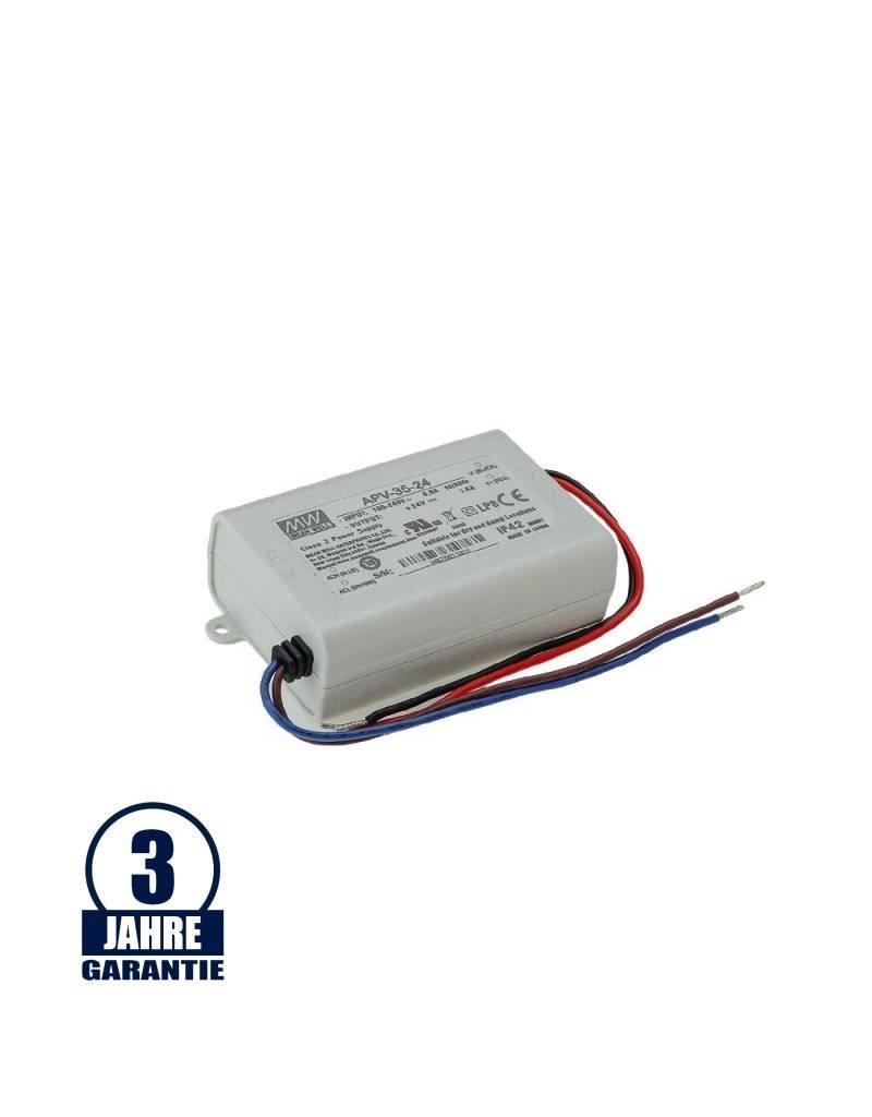 LEDFactory MEAN WELL 24V DC Kunststoff Netzteil IP42 25W bis 35W