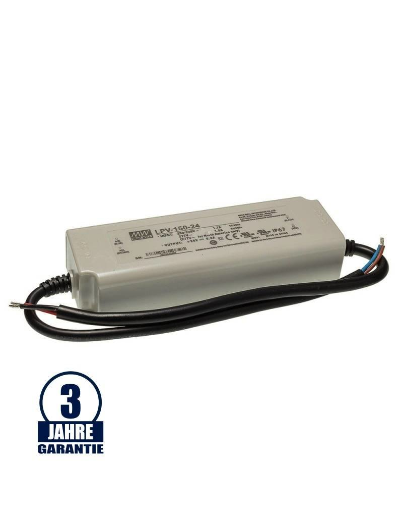 LEDFactory MEAN WELL 24V DC Kunststoff Netzteil Wasserdicht IP67 35W bis 240W