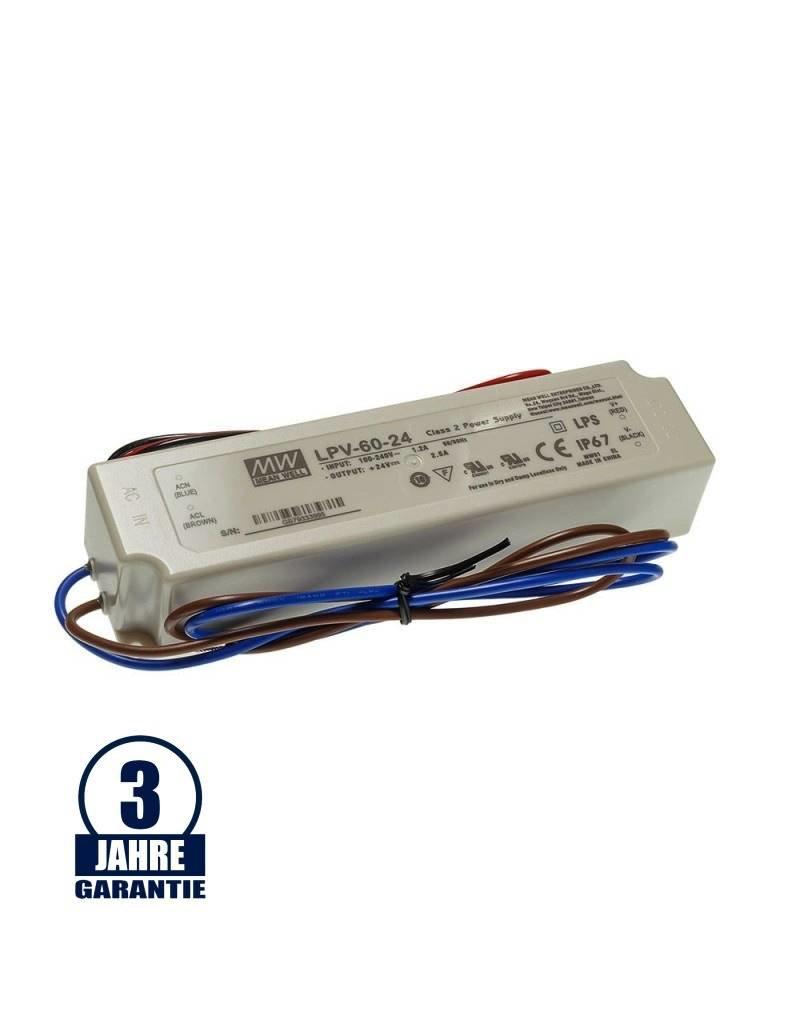 MEAN WELL 24V DC Kunststoff Netzteil Wasserdicht IP67 35W bis 240W