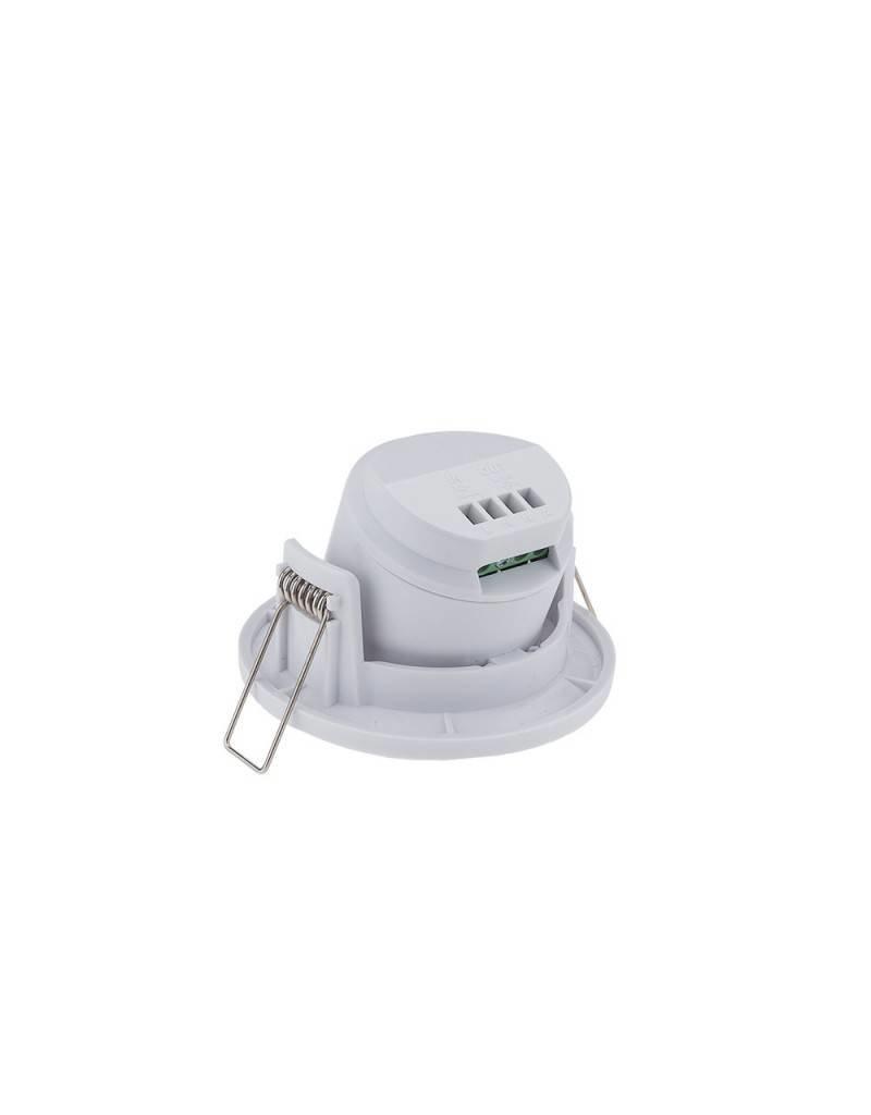 LEDFactory LED Bewegungsmelder Einbau Schwenkbar bis 300W Ø8m 360° IP20