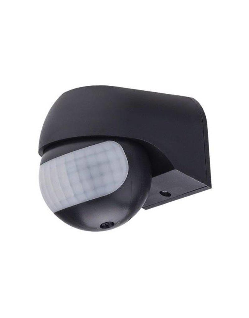 LED Bewegungsmelder Wandmontage bis 200W Ø12m 180° IP54 Schwarz