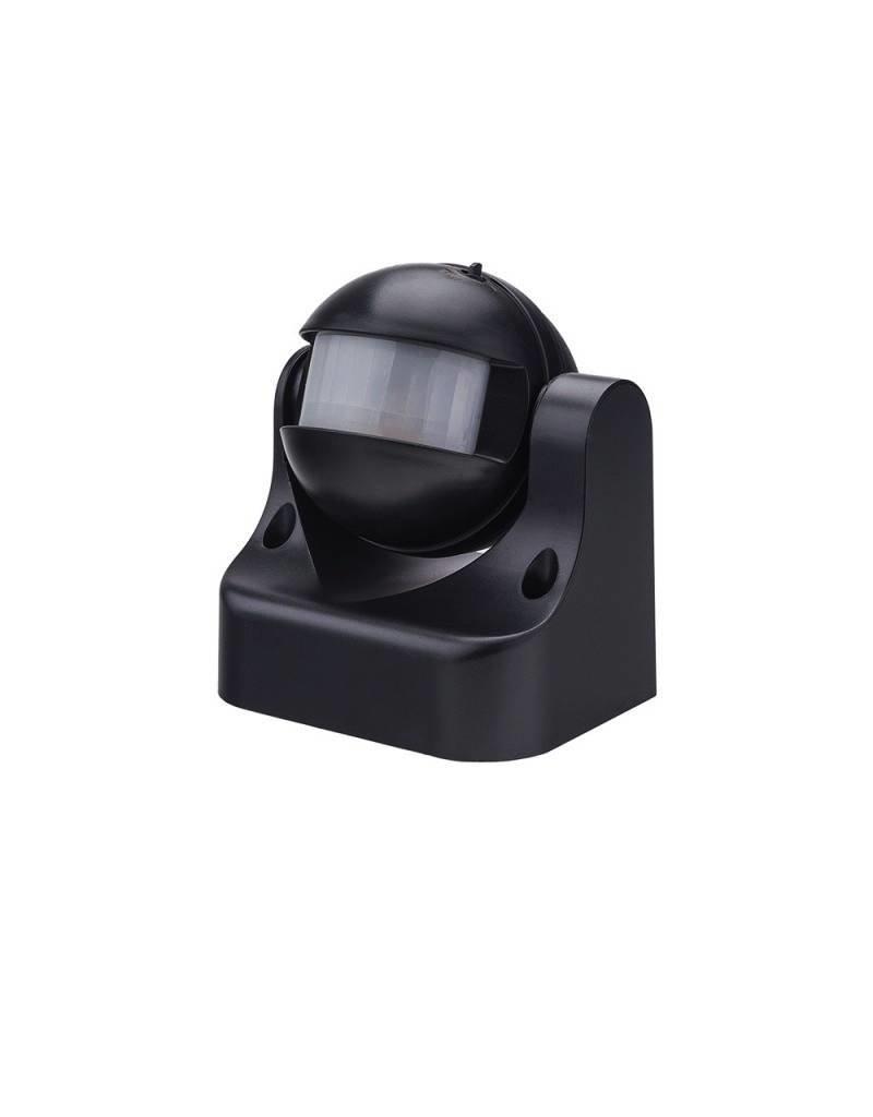LED Bewegungsmelder Wandmontage bis 300W Ø12m 180° IP44 Schwarz