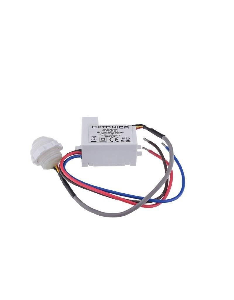 LEDFactory LED Bewegungsmelder Einbau Mini bis 100W Ø2-6m 120° IP20/IP65