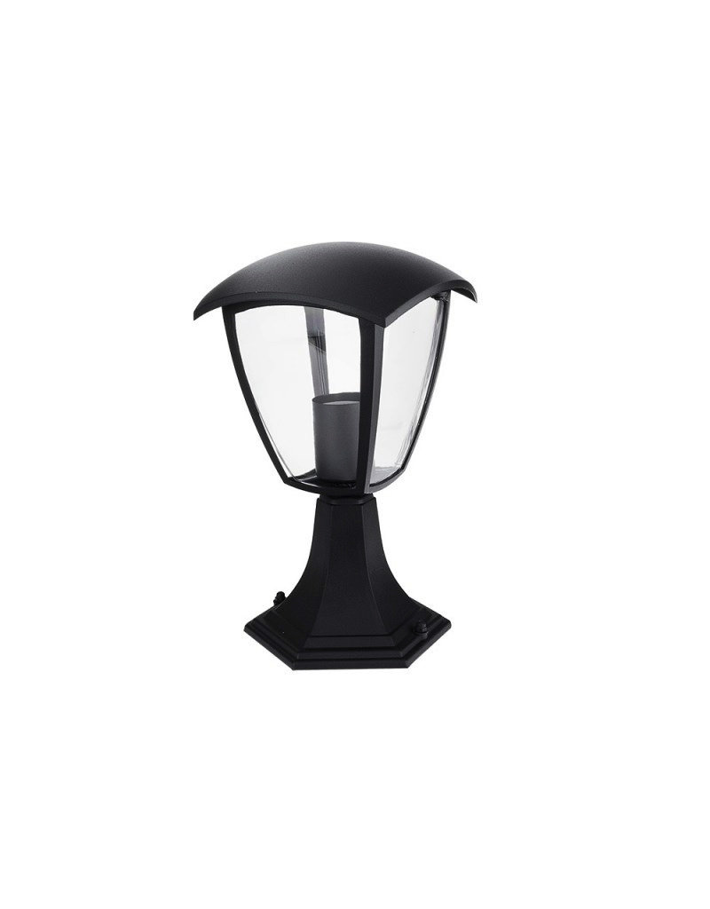 LEDFactory Außen Laterne mit E27 Fassung Standmontage Schwarz