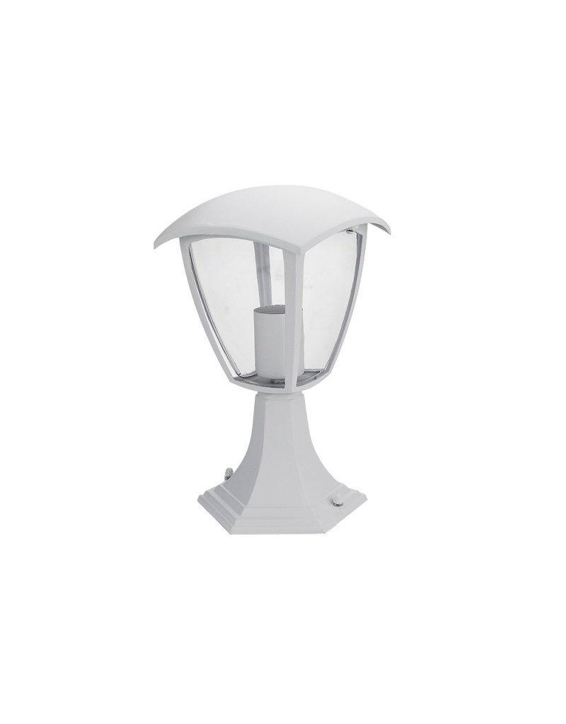 LEDFactory Außen Laterne mit E27 Fassung Standmontage Weiß