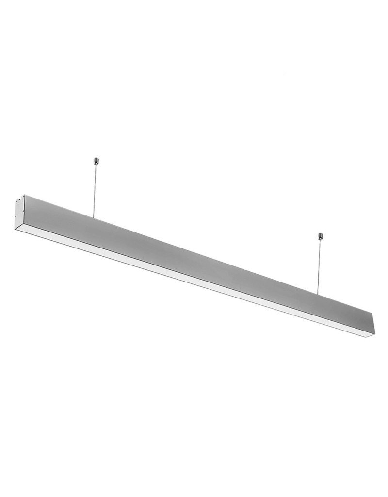 LEDFactory 40W LED Linearleuchte mit Abhängung Silber