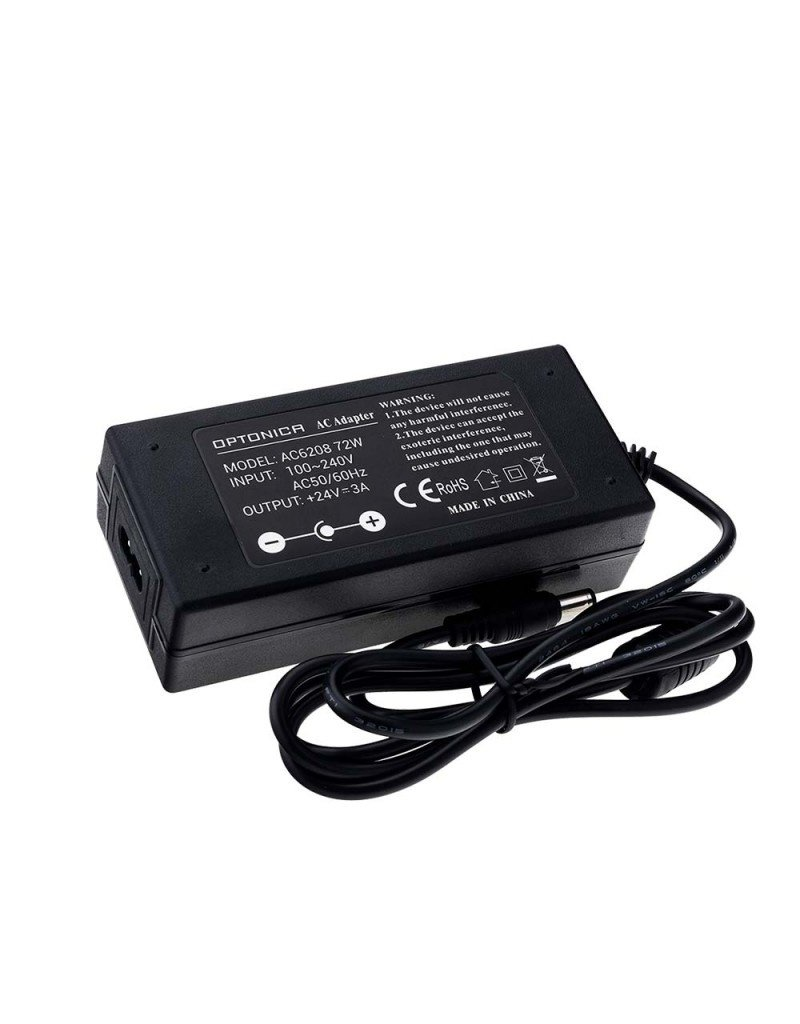 24V DC Kunststoff Netzteil Professional mit Stecker 36W bis 72W