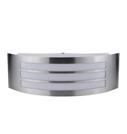 LEDFactory Wandlampe mit E27 Fassung Edelstahl Stripes IP44