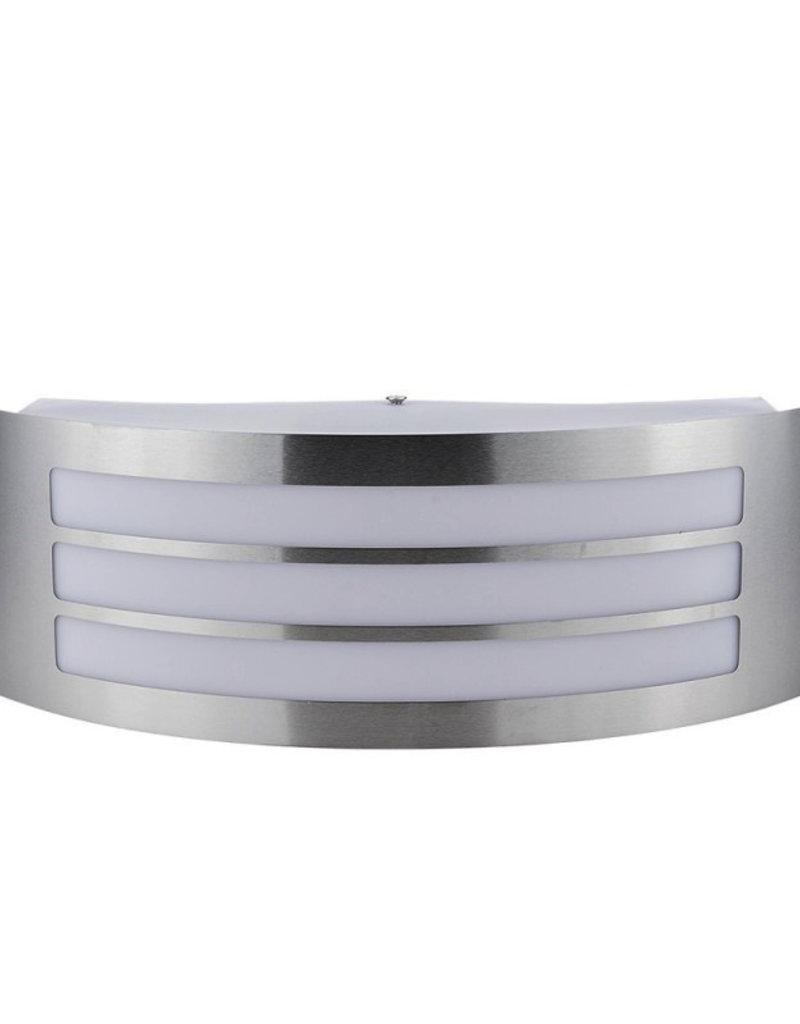 Wandlampe mit E27 Fassung Edelstahl Stripes IP44