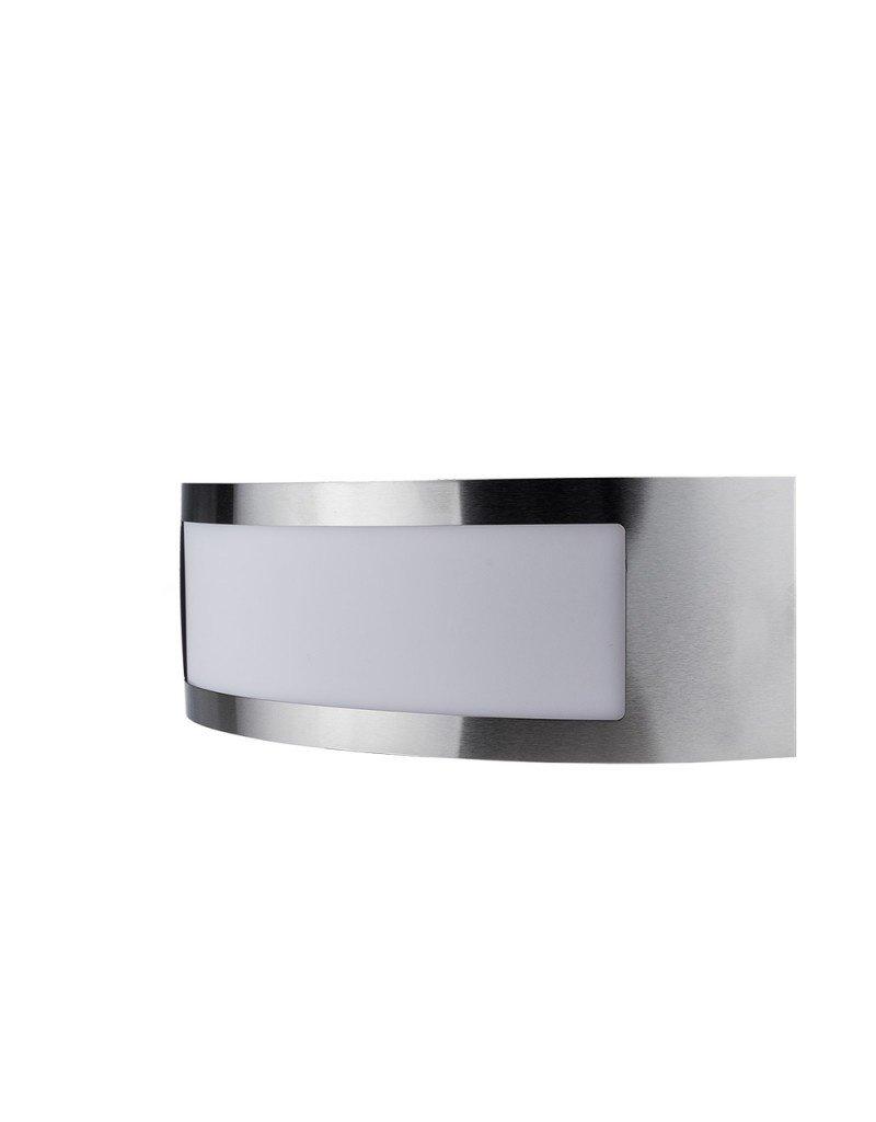 LEDFactory Wandlampe mit E27 Fassung Edelstahl Classic IP44