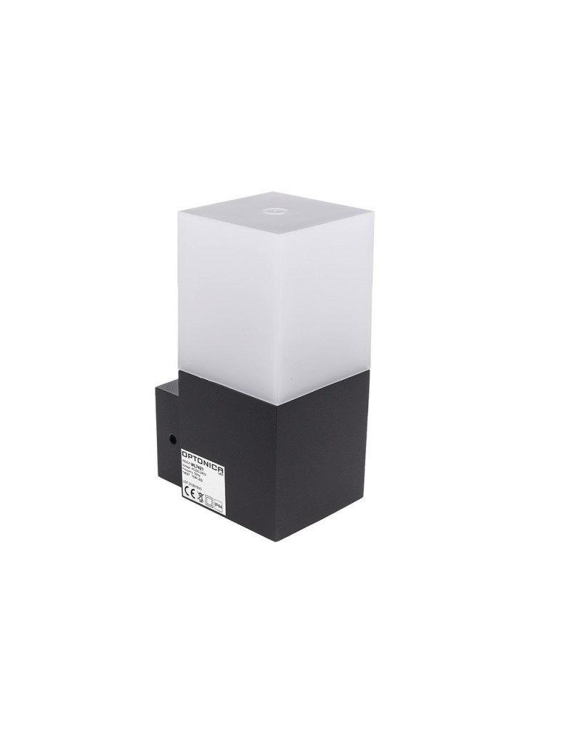 LEDFactory Wandlampe mit E27 Fassung Dunkelgrau IP44