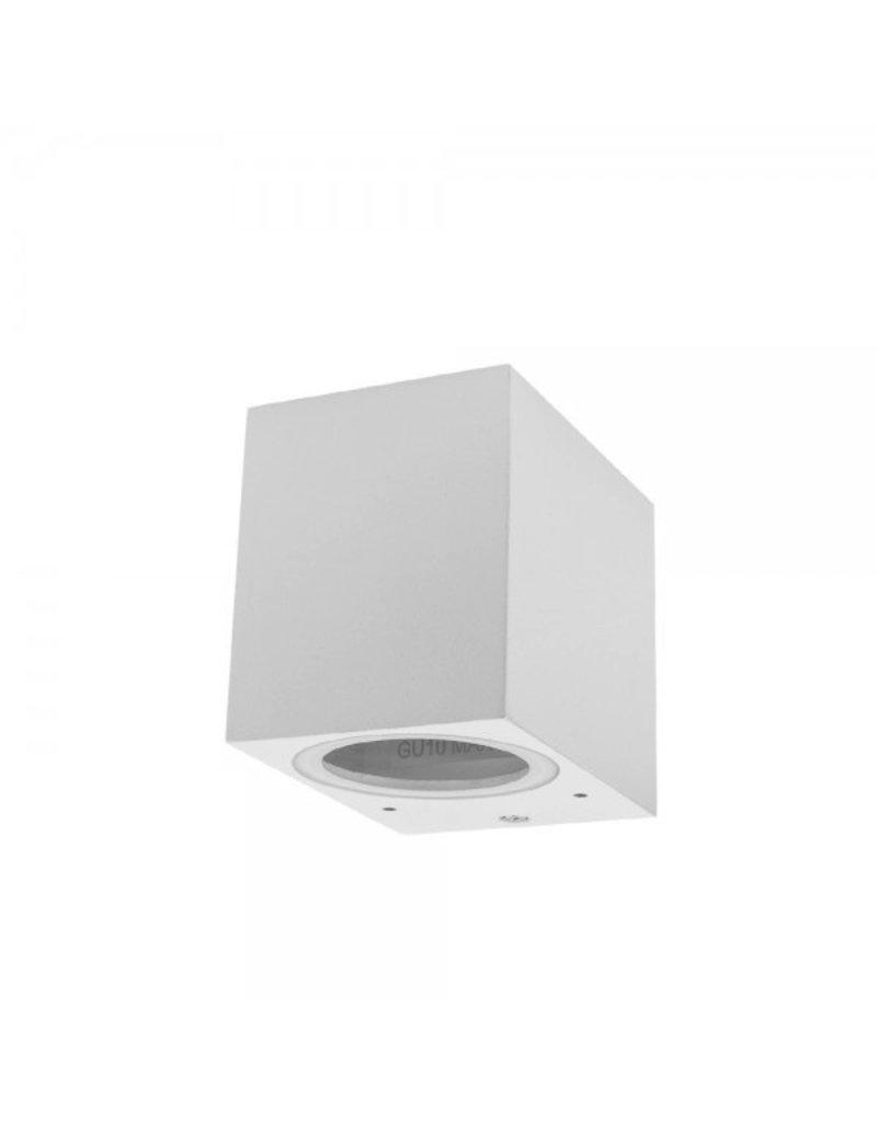 LEDFactory Wandlampe mit GU10 Fassung 1-fach Quader Weiß IP44