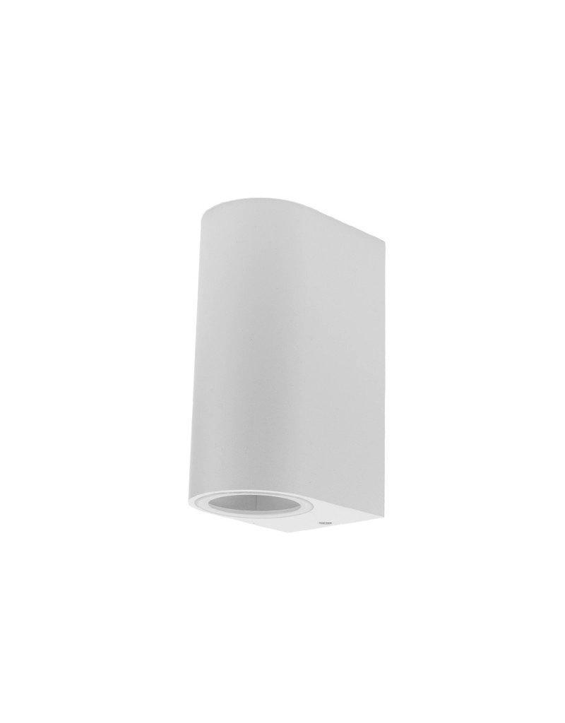 Wandlampe mit GU10 Fassung 2-fach Zylinder Weiß IP44
