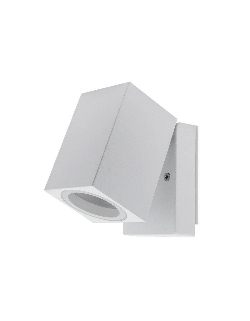LEDFactory Wandlampe mit GU10 Fassung 1-fach Quader Schwenkbar Weiß IP44