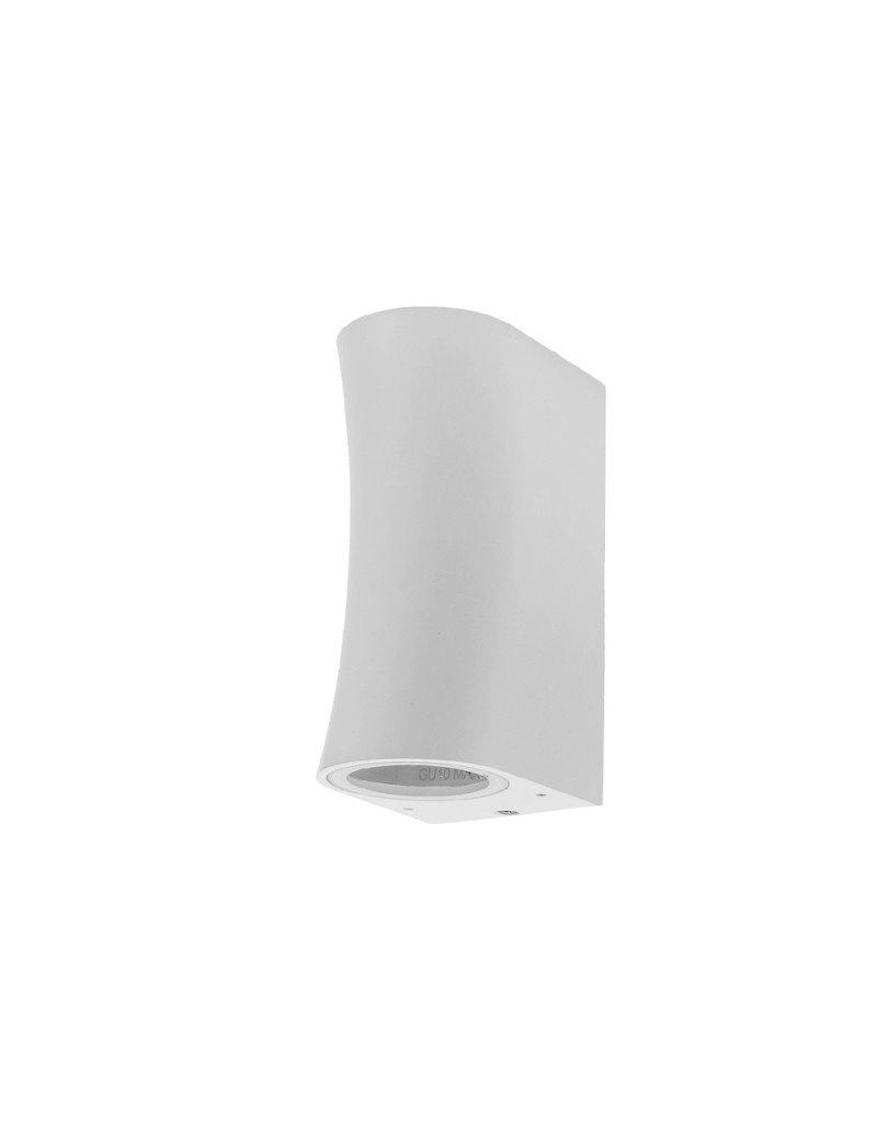 """LEDFactory Wandlampe mit GU10 Fassung 2-fach Zylinder """"Bogen"""" Weiß IP44"""