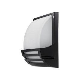 Wandlampe mit E27 Fassung Aluminium Matt Schwarz