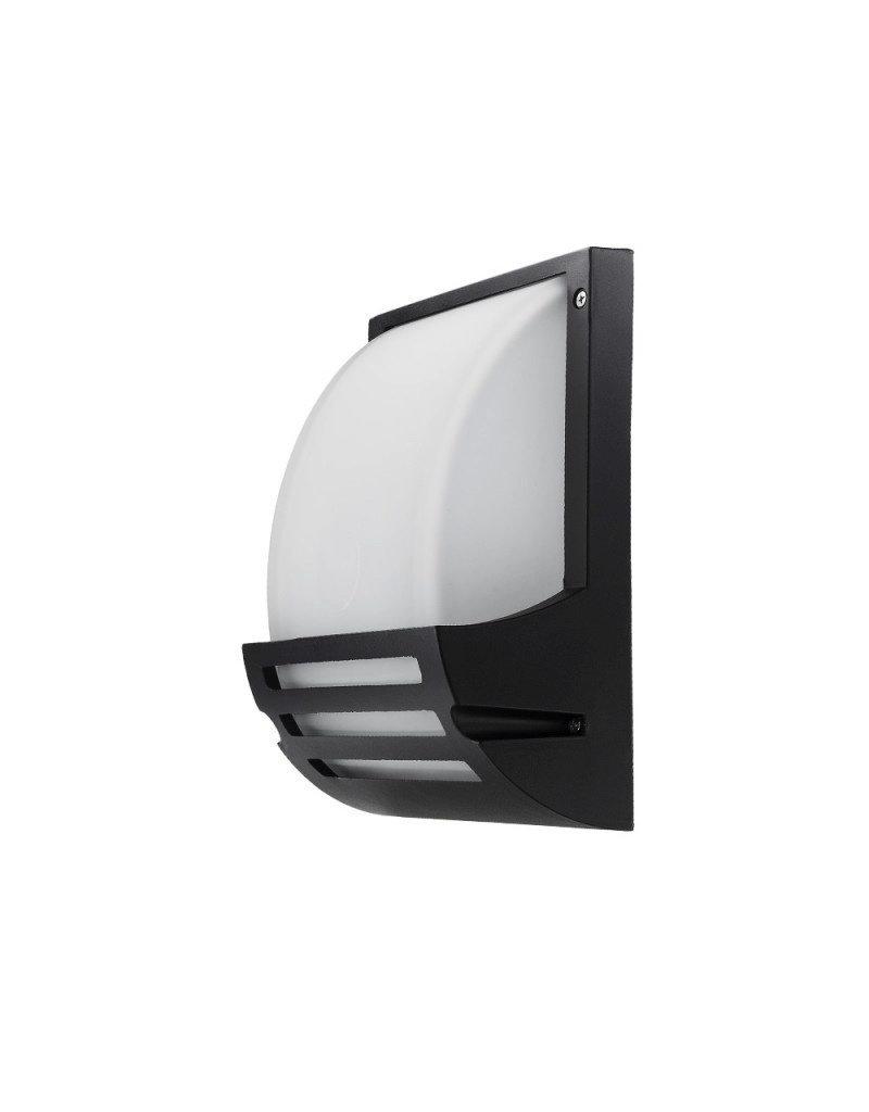 LEDFactory Wandlampe mit E27 Fassung Aluminium Matt Schwarz