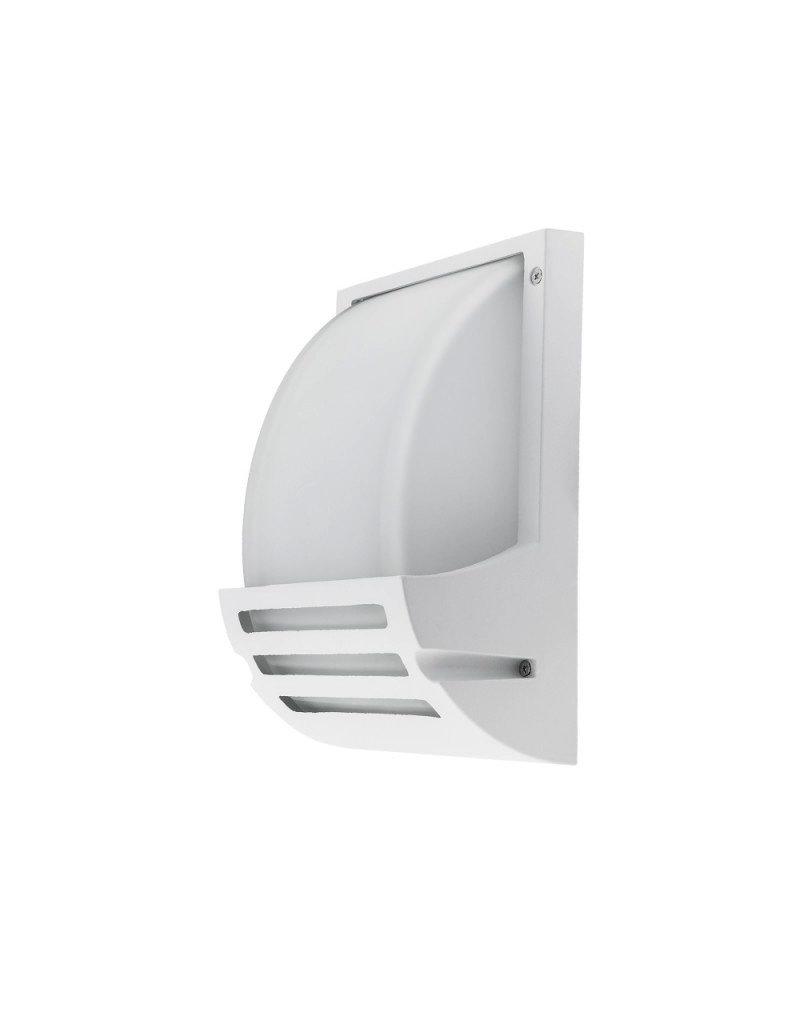 LEDFactory Wandlampe mit E27 Fassung Aluminium Matt Weiß