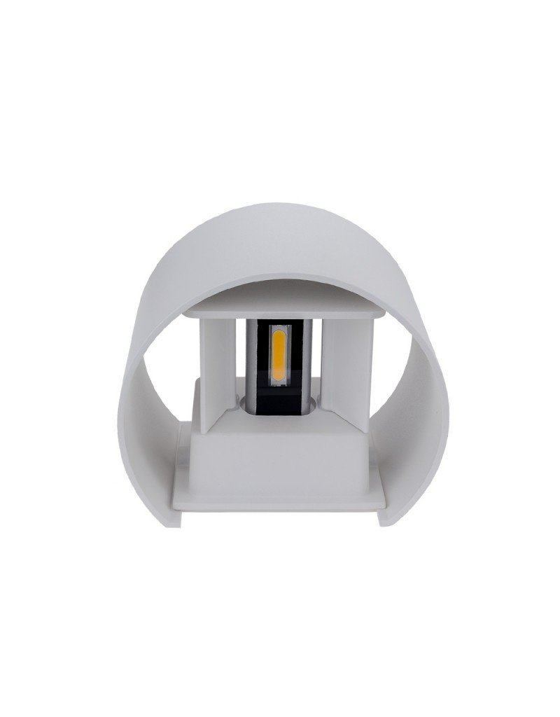 LEDFactory 6W LED Wandleuchte Rund Up and Down Weiß IP54