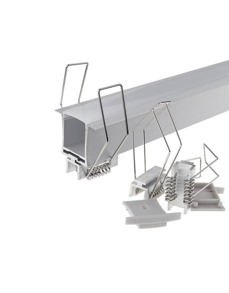 LED Profil Decken Einbau eloxiert 2m SET