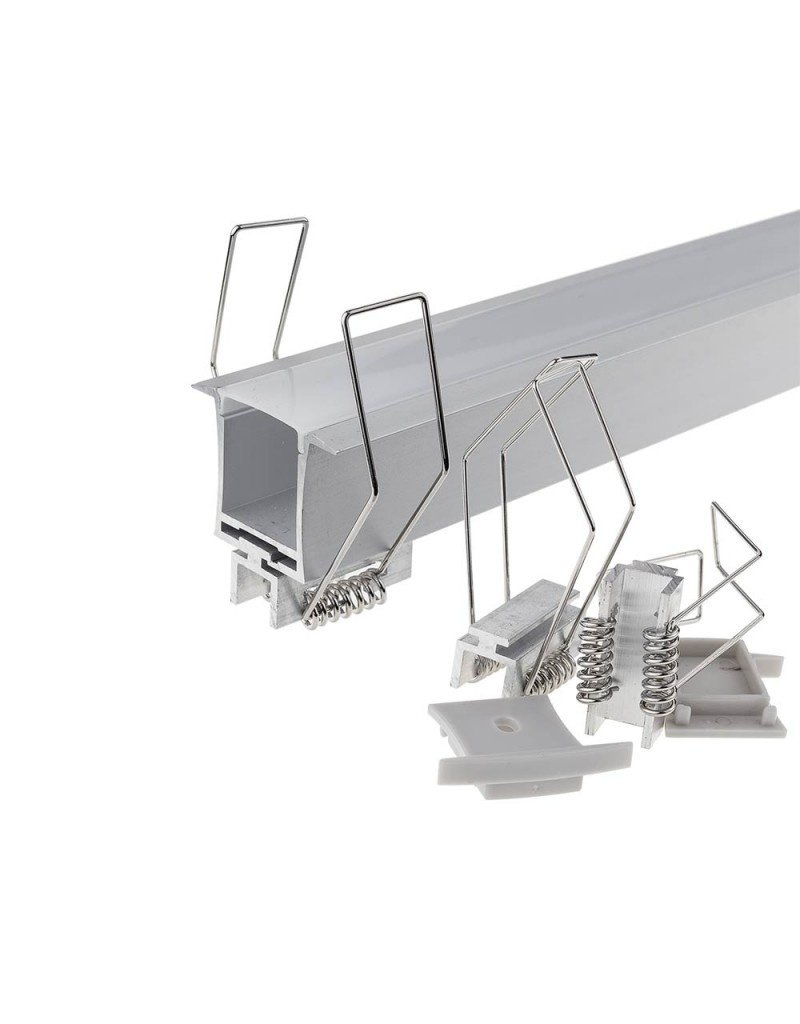 LEDFactory LED Profil Decken Einbau eloxiert 2m SET