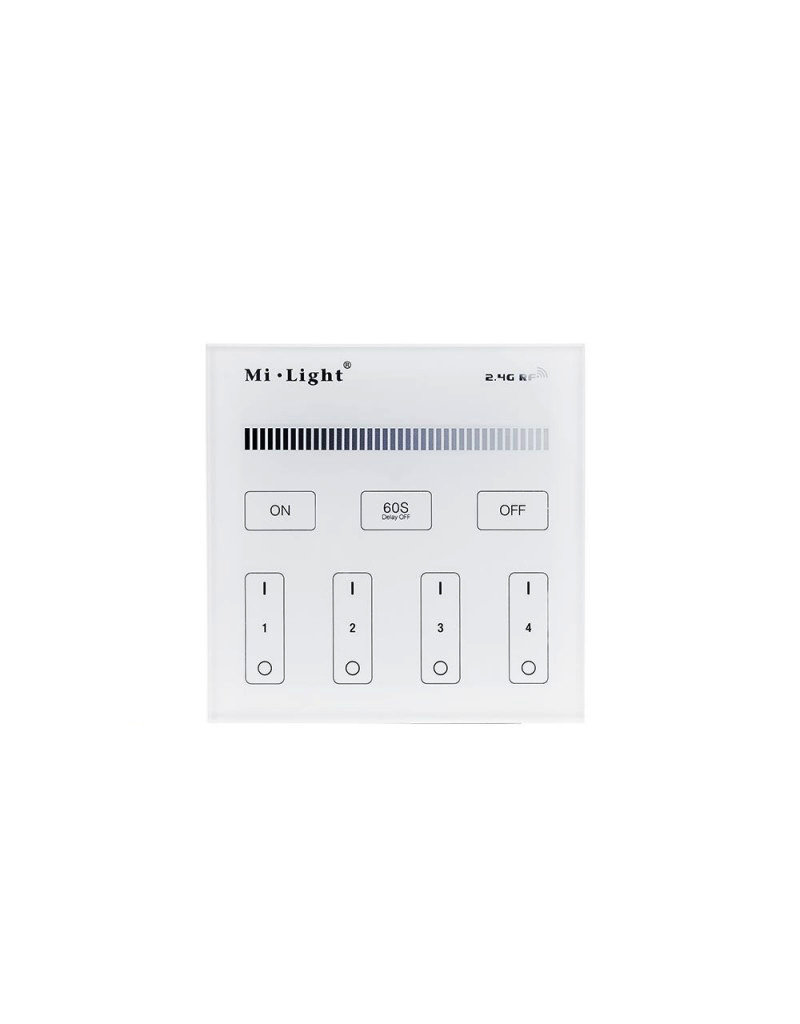 Mi-Light 2.4GHz 4-Zone Single Color Dimming Panel Remote Steuerung