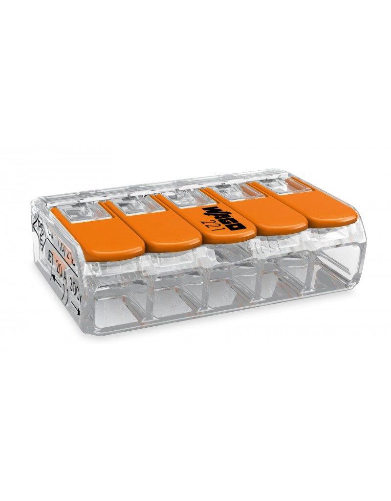 LEDFactory WAGO COMPACT-Verbindungsklemme für 5 Leiter