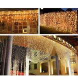 LEDFactory 3M x 3M LED Lichtervorhang, 8 Modi, 306 LEDs, Lichterkette
