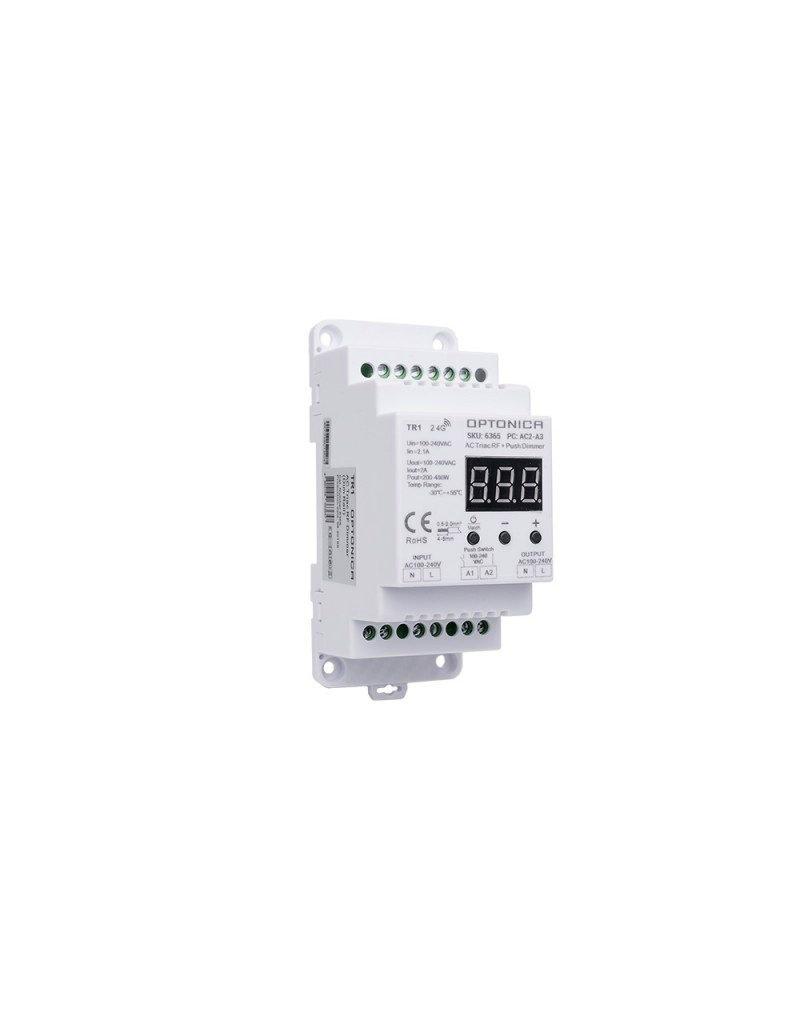 LEDFactory LED S1-B Triac RF Controller 100-240VAC 2A 1Kanal für Tragschienen