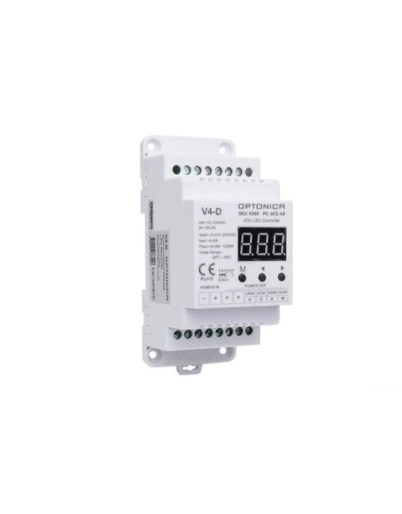 LED V4-D RGB / RGBW Empfänger für Tragschiene
