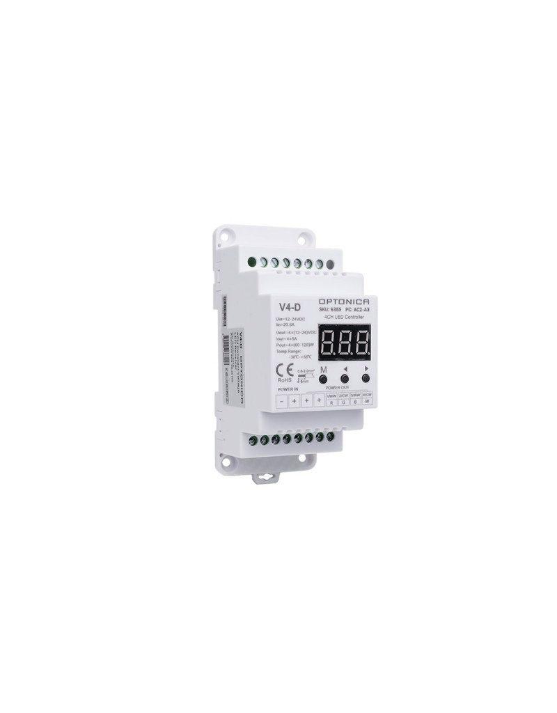 LEDFactory LED V4-D RGB / RGBW Empfänger für Tragschiene
