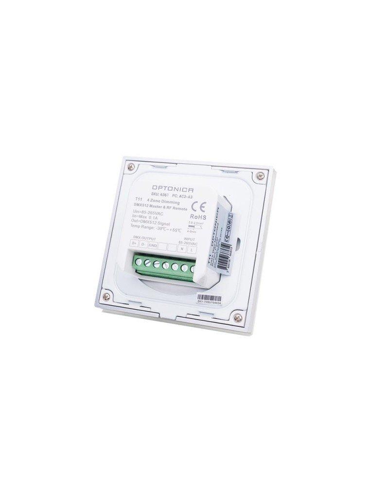 LEDFactory LED T11 DMX-RF 4 Zonen Single Colour Wandcontroller