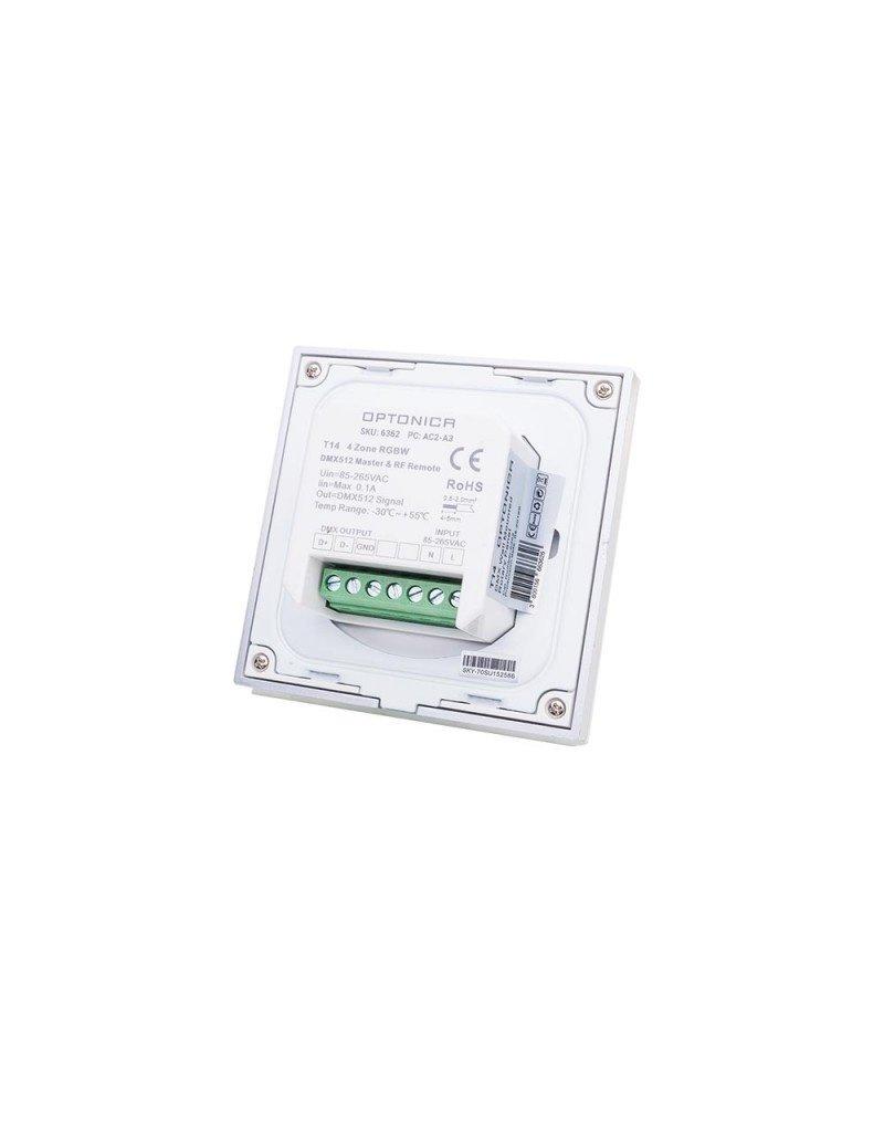 LEDFactory LED T14 DMX-RF 4 Zonen RGBW Wandcontroller