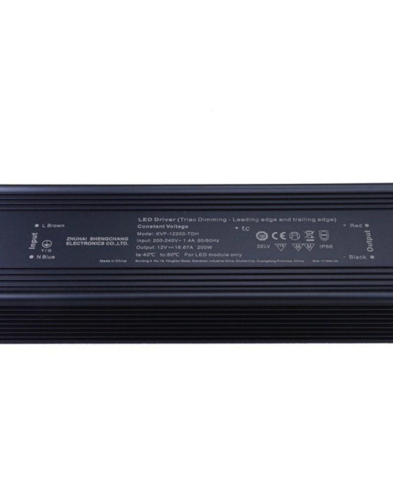 SC Power 12V DC Metall Netzteil Dimmbar IP66 60W bis 200W
