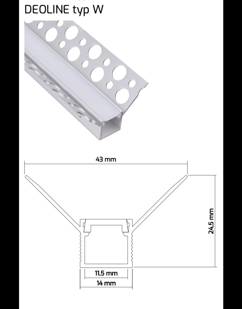 Aluprofil DEOLINE Trockenbauprofile 2m