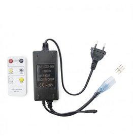 LEDFactory Anschlusskabel / Controller für 230V 5630 CCT LED Streifen inkl. Fernbedienung.