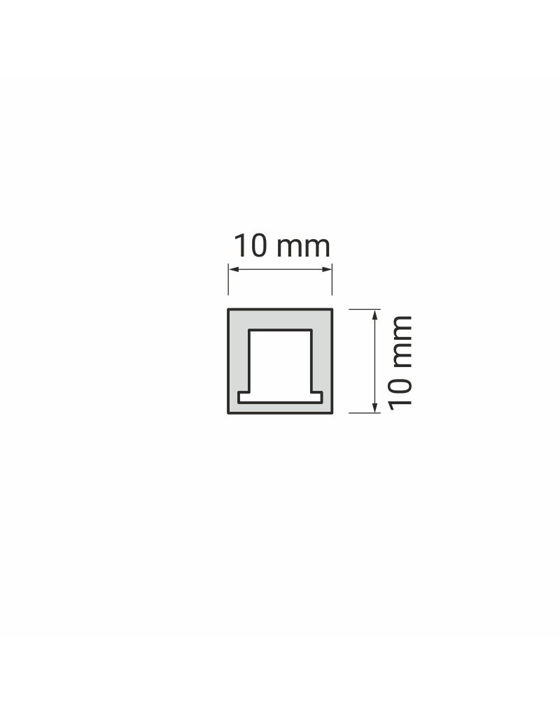 Aluprofil TREND aus Kunststoff 2m