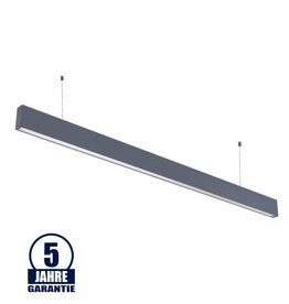 LEDFactory 50W LED Linearleuchte Up and Down Professional mit Abhängung Silber Neutralweiß